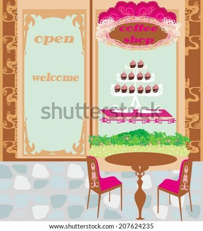 coffee shop - stock vector