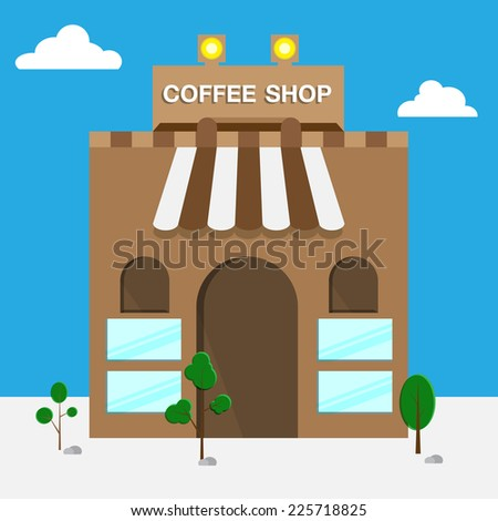 coffee shop at daytime - stock vector
