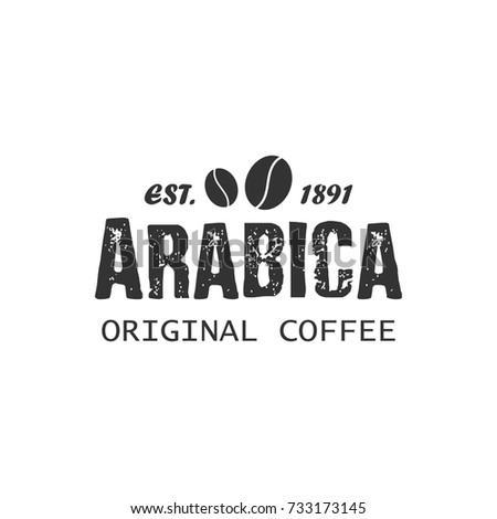 Coffee shop, cafe logo template, layout. Vector design element, badge.