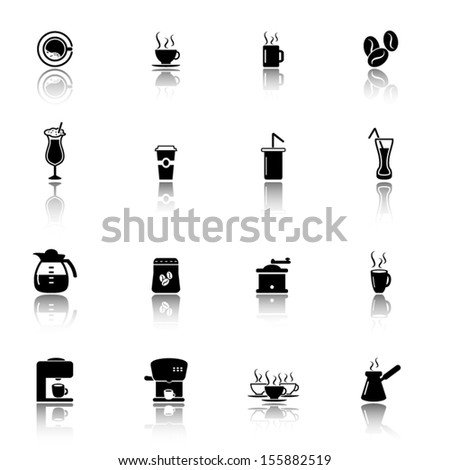 Coffee shop icons set - stock vector