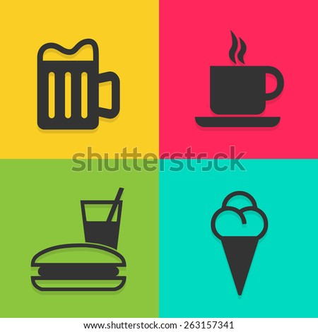 coffee shop icons set great for any use. Vector EPS10. - stock vector