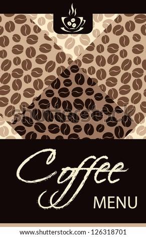 Coffee shop menu - stock vector