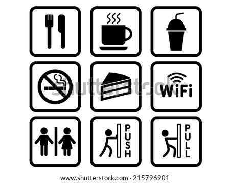 Coffee shop stickers - stock vector