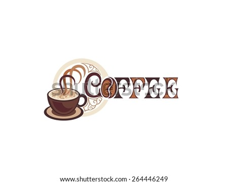 Coffee sign - stock vector