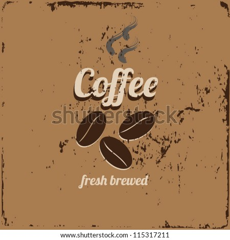 coffee sign vector illustration - stock vector