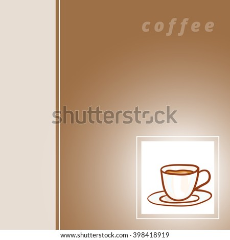Coffee sketchy vector card. Vector design hot Coffee card element. Sketch for coffee house flyer, banner, ad, package, poster. Hand drawn mug of hot Coffee. Hot Coffee vector icon - stock vector