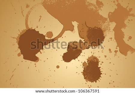 Coffee stain abstract vector background