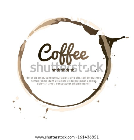Coffee Stain, Isolated On White Background. Vector EPS 10 illustration. - stock vector