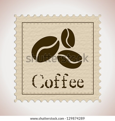 coffee stamp. coffee concept - stock vector