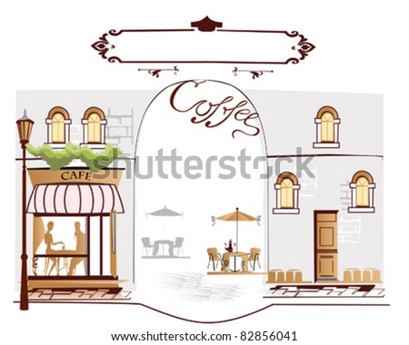 Coffee street with cafes