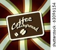 Coffee stripe background - stock vector