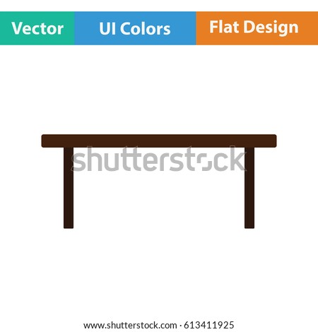 Coffee table icon. Flat design. Vector illustration.