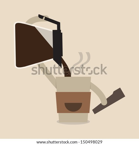 Coffee time - stock vector