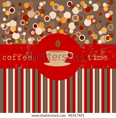 Coffee time, design template,copy space - stock vector