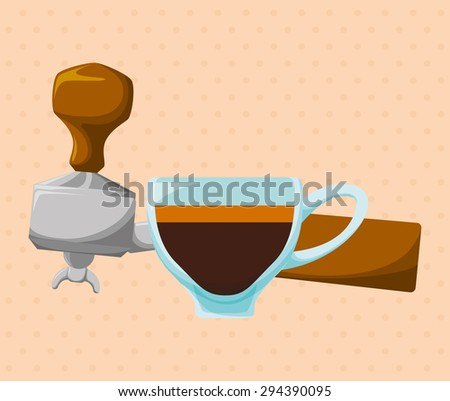 Coffee time digital design, vector illustration 10 eps graphic