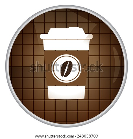 Coffee time, icon. - stock vector
