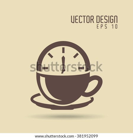 coffee time icon design  - stock vector