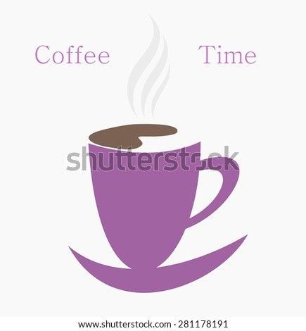 Coffee time. Symbolic vector cup of coffee - stock vector