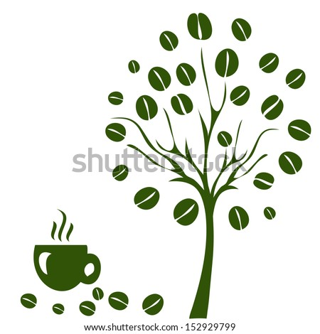 coffee tree. coffee tree concept - stock vector