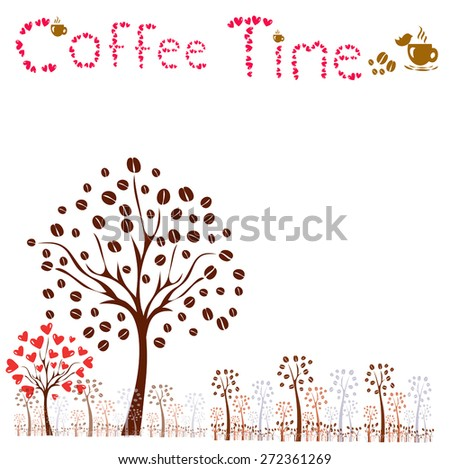 coffee tree. vector coffee tree concept - stock vector