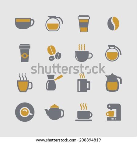 Coffee vector icons - stock vector