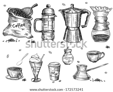 Coffee ware - stock vector
