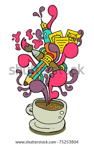 coffeecup series - creativity - stock vector