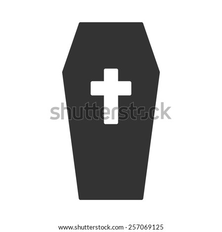 Coffin vector image to be used in web applications, mobile applications and print media. - stock vector