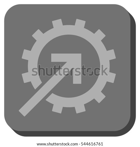 Cog Integration vector icon. Image style is a flat icon symbol in a rounded square button, light gray and gray colors.