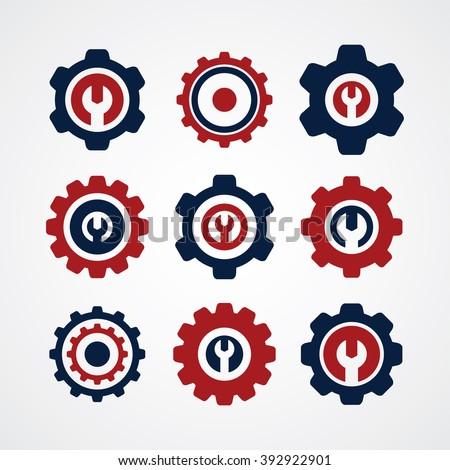 Cog Settings Icon Symbol - stock vector