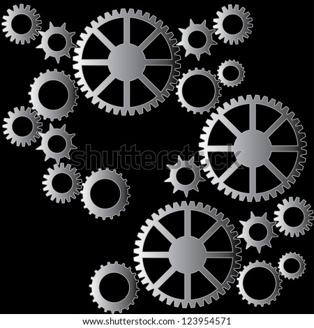 Cogs pattern background vector