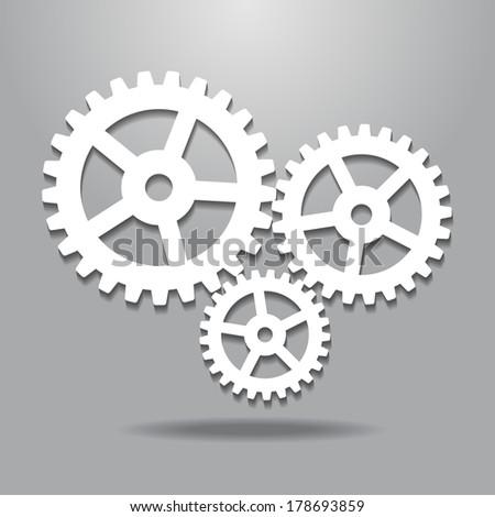Cogwheel gear mechanism. Abstract design logo. Logotype art - vector - stock vector