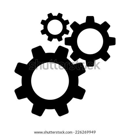 Cogwheel gear mechanism vector settings vector icon - stock vector
