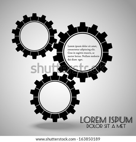 Cogwheel, Vector illustration, eps 10 - stock vector