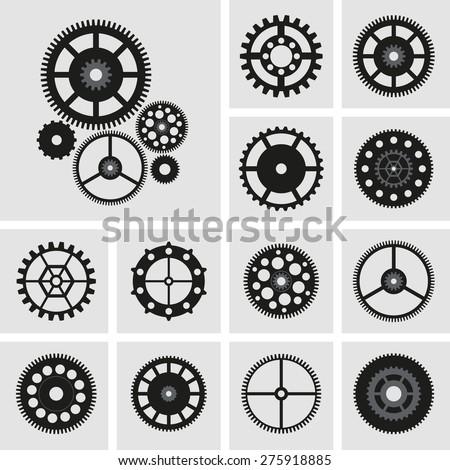 Cogwheels set. - stock vector