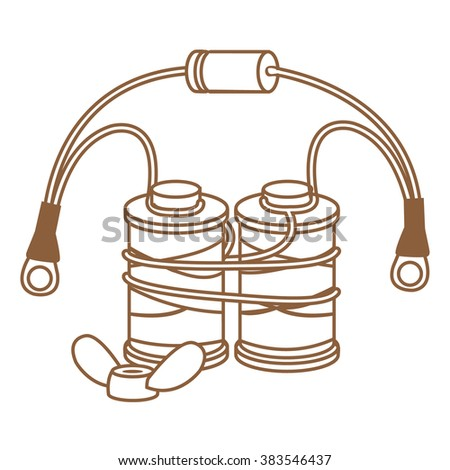 Coils Copper Wire Induction Tattoo Machines Stock Vector 383546437 ...