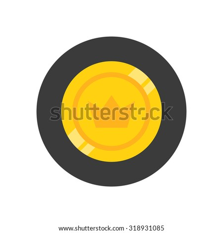 coin icon - stock vector