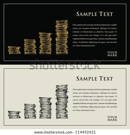 coin, money and text for your finance, business, design, advertisement - stock vector