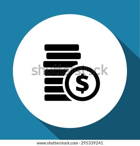 Coins icon - stock vector