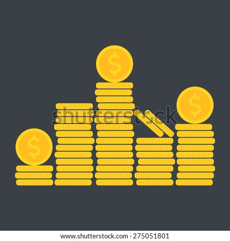 Coins icon. Vector illustration - stock vector