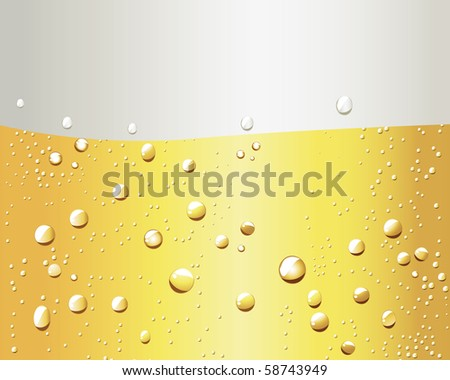cold beer - stock vector