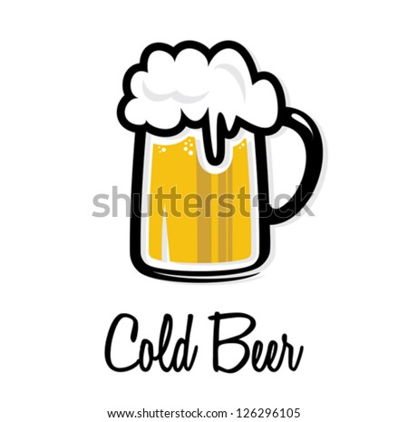 Cold beer icon - stock vector