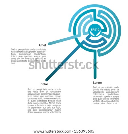 Cold color concept edition of an abstract minimal & scalable eps10 vector background illustration with curvy blue color concept retro lines in a concentric circle composition, for universal use - stock vector