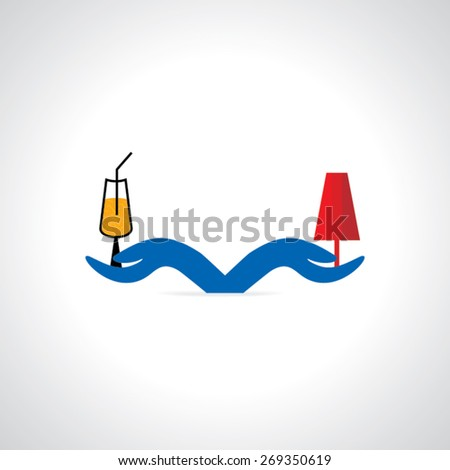 cold drink vector illustration - stock vector