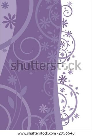 Cold flowers - stock vector