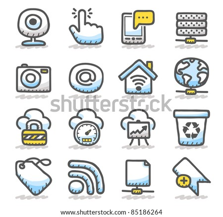 cold network ,communication,business icon set - stock vector