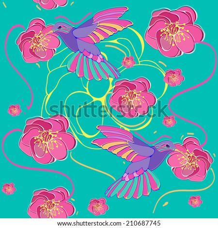 Colibri illustration. - stock vector