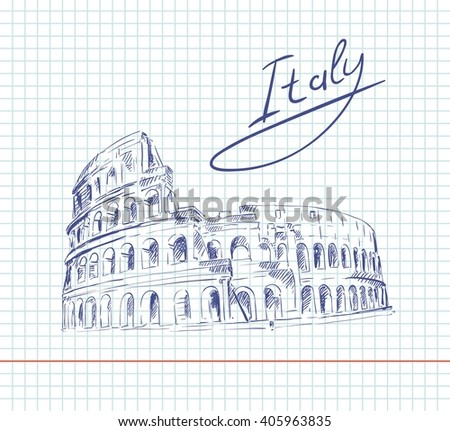 Coliseum. Italy Attractions - stock vector