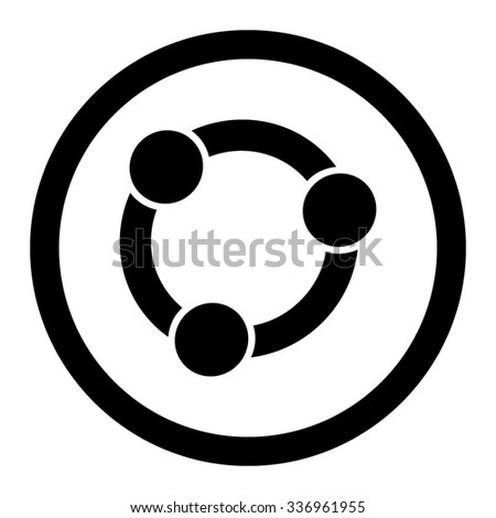 Collaboration vector icon. Style is flat rounded symbol, black color, rounded angles, white background. - stock vector