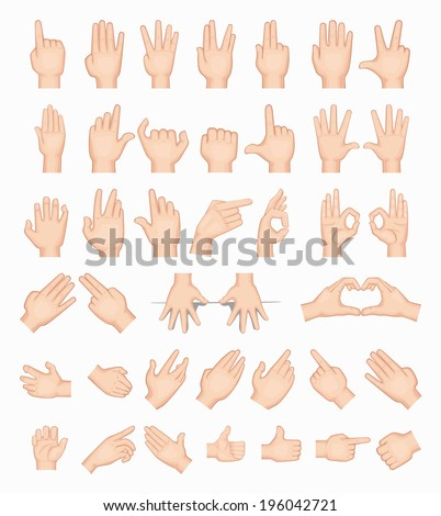 Collage of  hands , eps10 vector format - stock vector